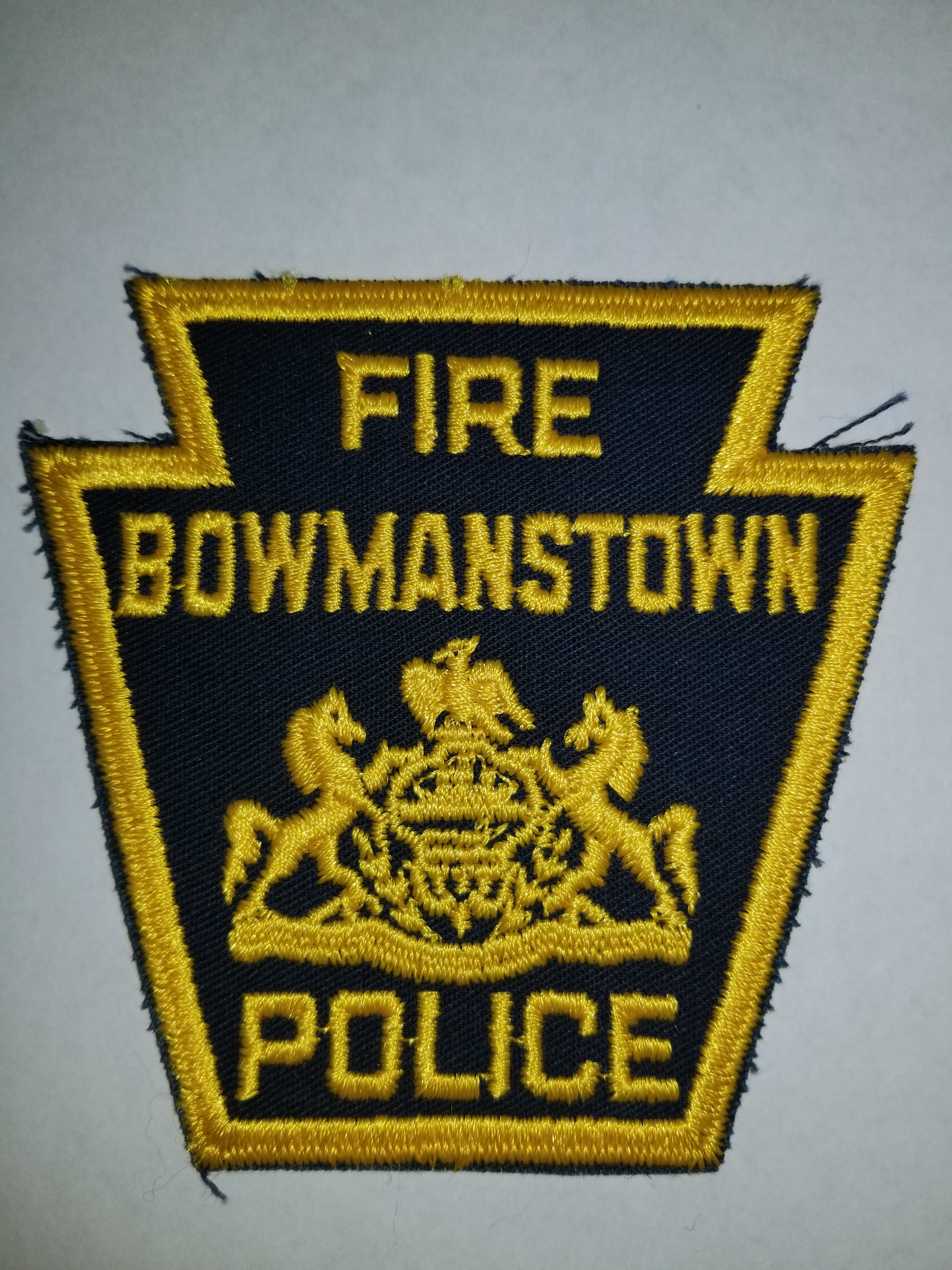 Bowmanstown PA Fire Police