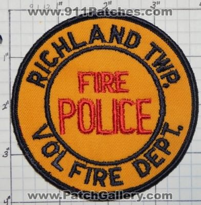 Richland Township PA FIRE POLICE