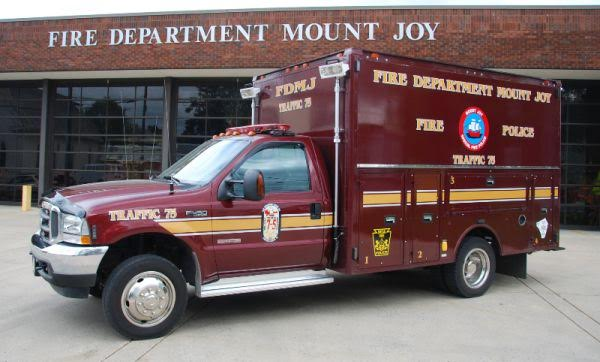 Fire Department Mount Joy PA Fire Police Traffic 7-5