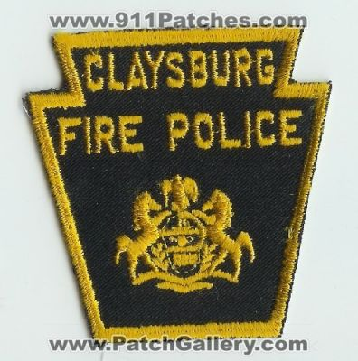Claysburg PA FIRE POLICE