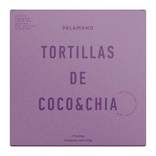 Tortillas de Coco & Chía - 2 paquetes