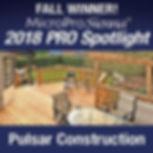 Pulsar Construction is the fall winner o