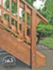 Deck Stairs Brown PT Wood