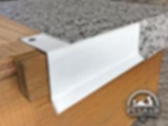 PVC coated deck flashing
