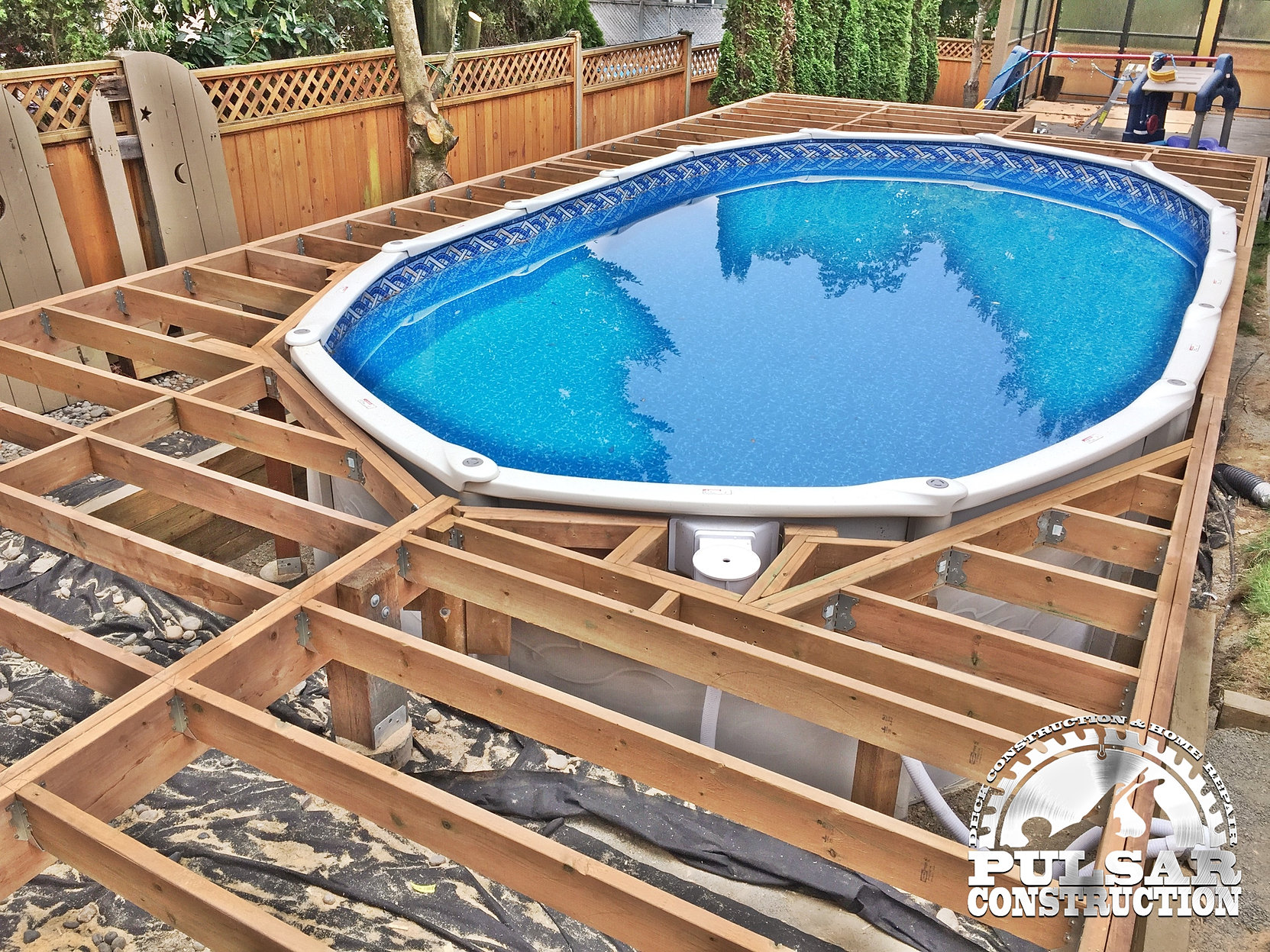 pulsar construction above ground pool deck 45 0221 - Above Ground Pool Deck