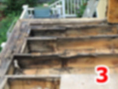 Rotted deck structure
