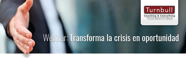Banner Webinar Transformando la crisis e