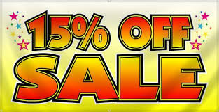 15% Off Site Wide!
