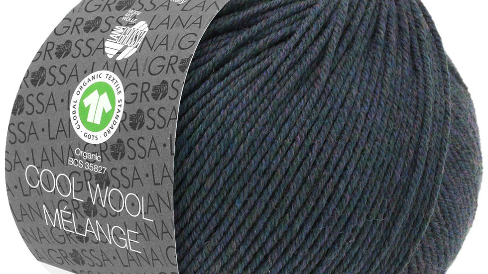 Cool Wool Mèlange   104 - Blaugrün meliert