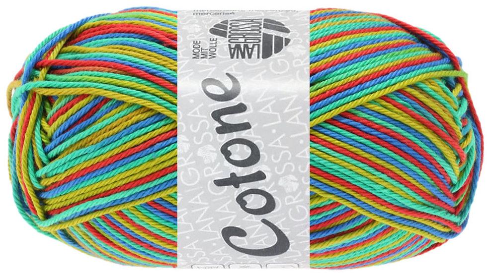 Cotone Print | 339 - Rot/Blau/Grün