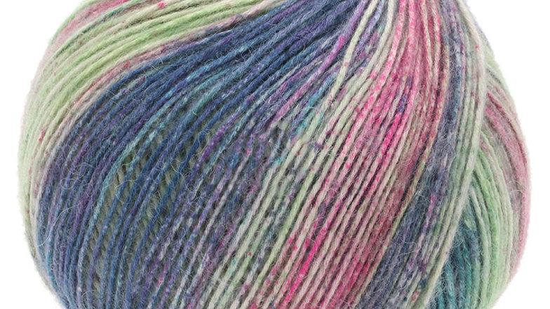 Ecopuno Print | 201 - Pflaumenblau/Flieder/Lichtgrün/Rosa/Petrol
