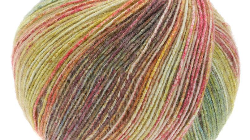 Ecopuno Print   204 - Grüngelb/Tomatenrot/Brombeer/Moosgrün