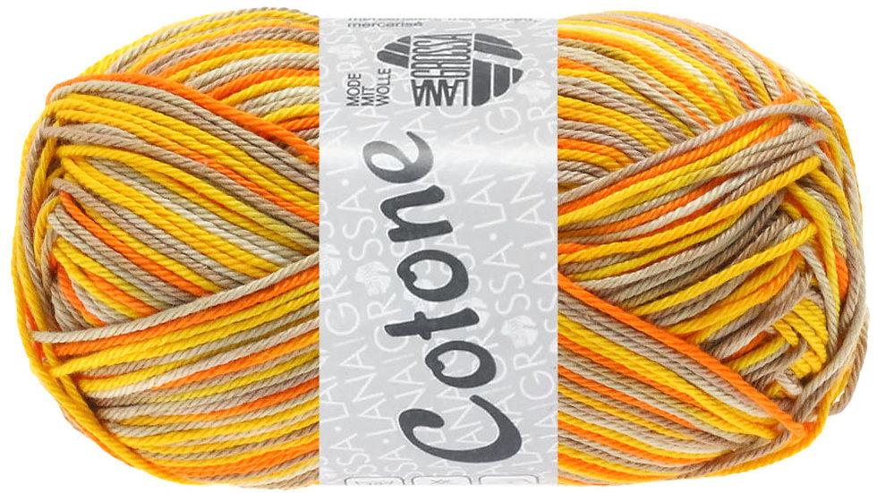 Cotone Print   337 - Beige/Taupe/Dottergelb