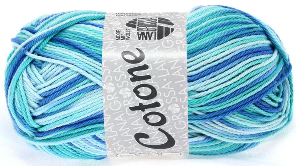 Cotone Print | 312 - Eisblau/Helltürkis/Blau