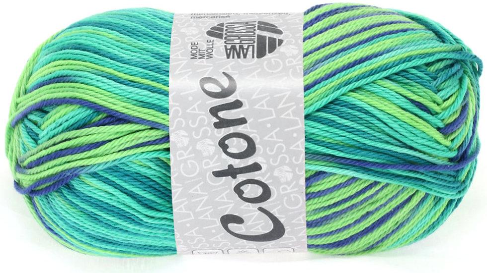 Cotone Print | 311 - Smaragd/Hellgrün/Petrol
