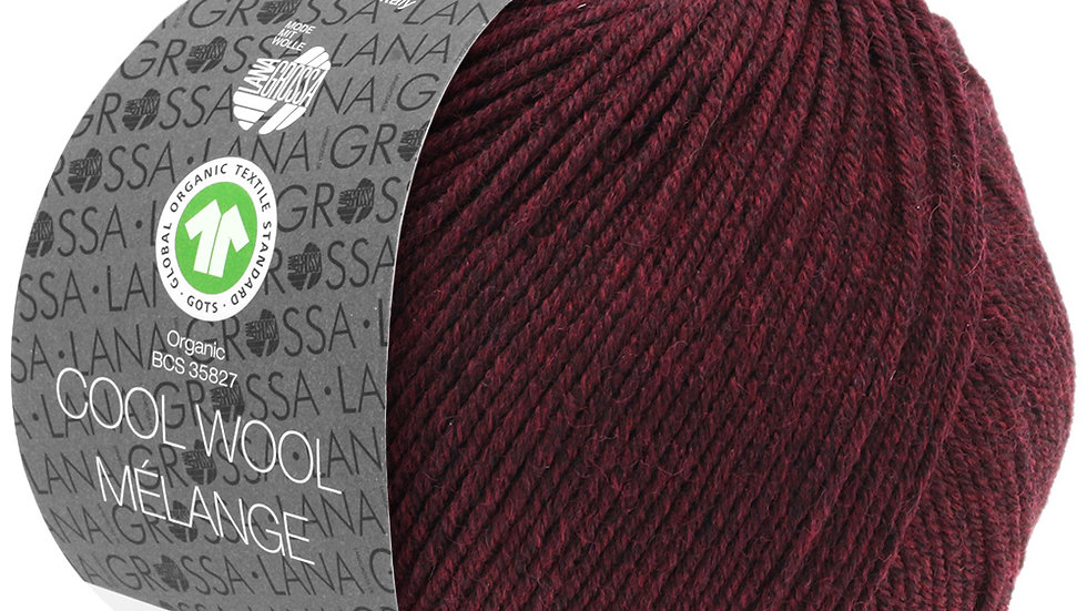 Cool Wool Mèlange | 119 - Dunkel-/Schwarzrot meliert
