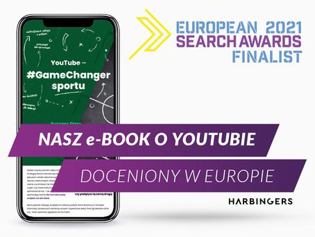 """European Search Awards 2021. E-book """"YouTube #GameChanger sportu"""" znominacją!"""
