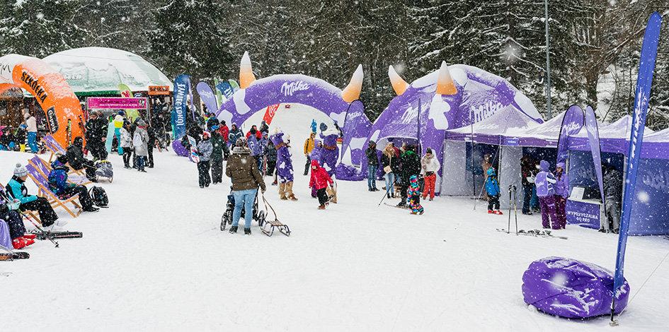 Zimowe Miasteczko Milki: strefa relaksu, fotobudki, zabawy i konkursy