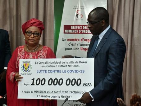 Lutte contre le COVID19 : La mairie de la Ville de Dakar contribue à hauteur de 100 millions de FCFA