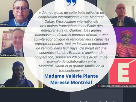 Lancement virtuel  Projet de renforcement de la CEPEM / Montréal - Dakar
