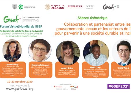 Forum Mondial Virtuel GSEF2020/ intervention de M. Malick Diop