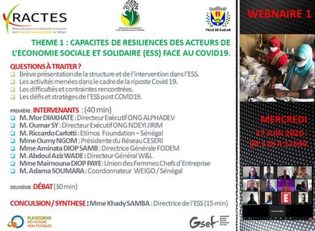 CAPACITES DE RESILIENCE DES ACTEURS DE L'ECONOMIE SOCIALE ET SOLIDAIRE FACE AU COVID19