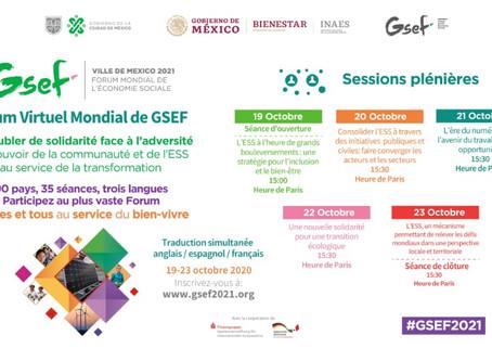 Lien pour accéder au forum virtuel mondial GSEF2020 / session d'ouverture avec Mme Soham El Wardini