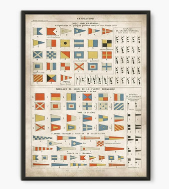 dave's office vintage nautical flags print $11.95 etsy.com