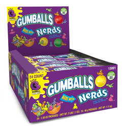 Bubble King Gumballs Made with Nerds