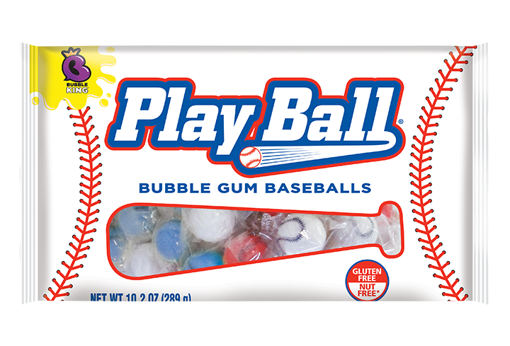 Bubble King PlayBall Bubble Gum Baseballs
