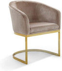 taupe velvet chair