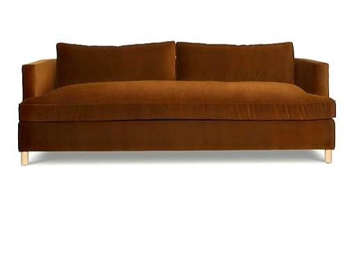 lulu and georgia belmont sofa, cognac, by ginny mcdonald $2,798 luluandgeorgia.com