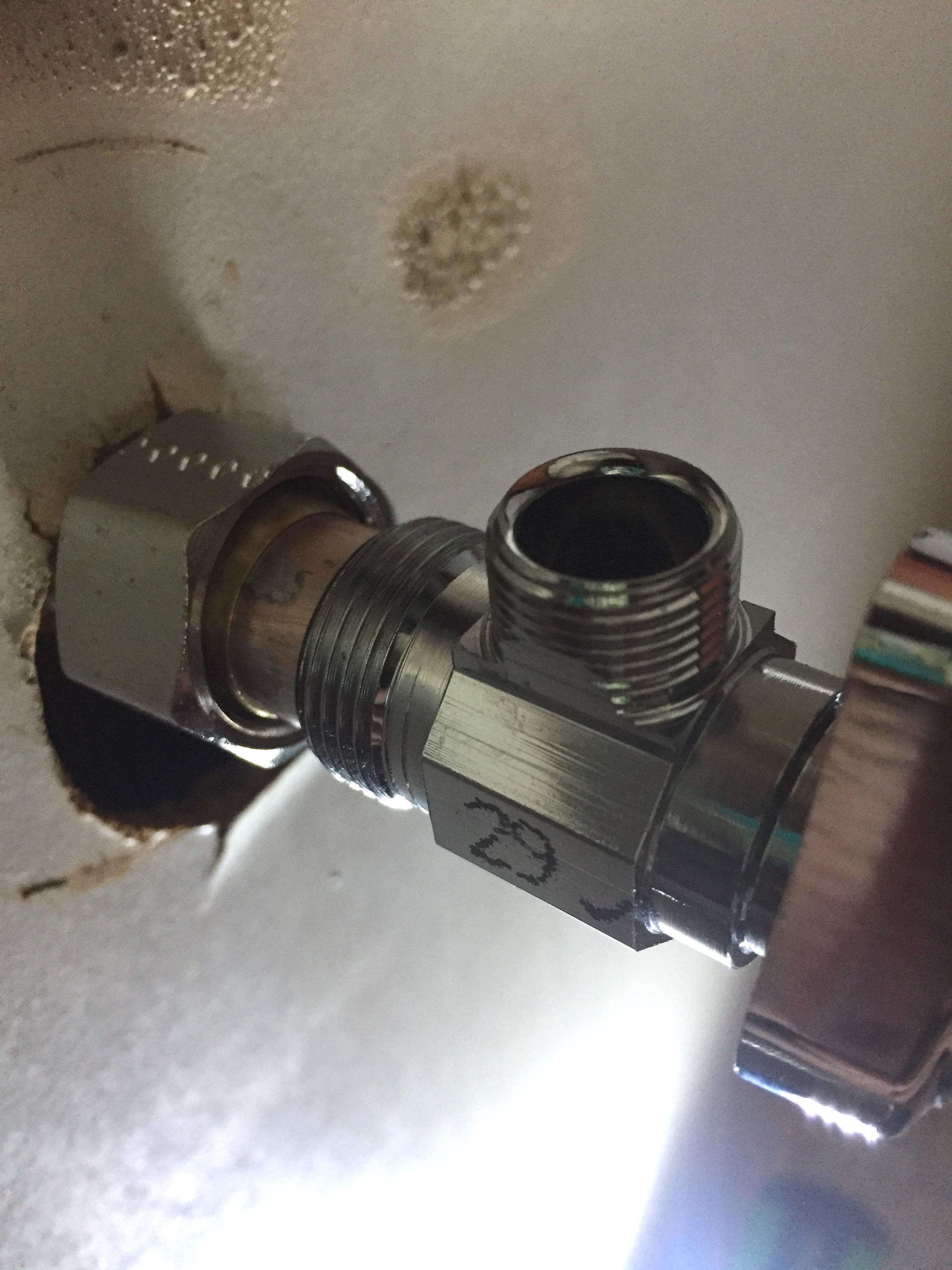 Replacing a Shut-off Valve: sweat valve to compression valve ...