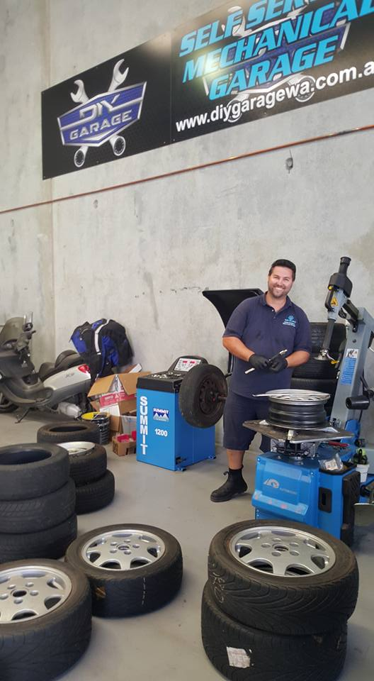 DIY garage late night malaga perth wa self service mechanical garage tyre changer cheap tyres perth