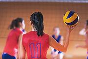 Frauen Volleyball spielen