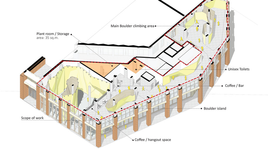 climbing walls layout