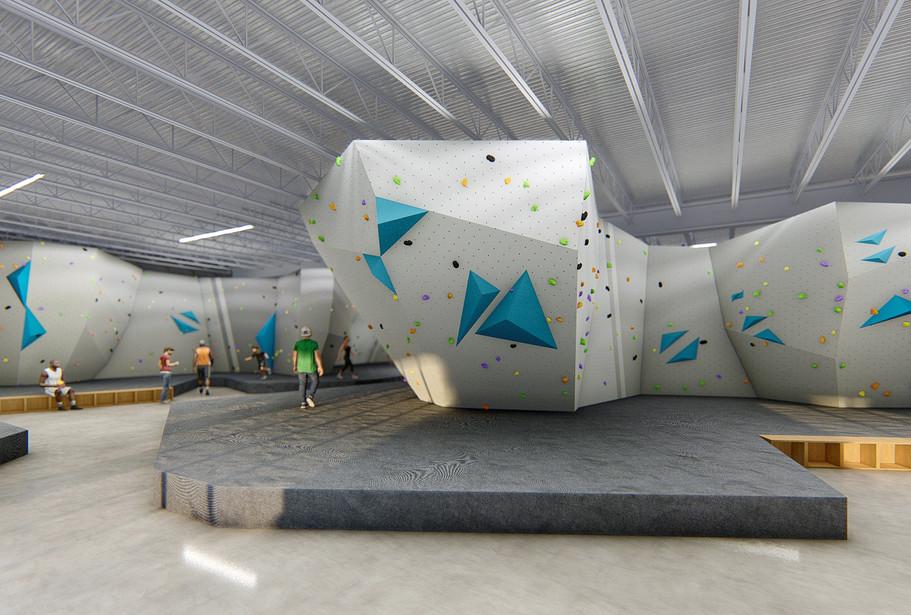 bouldering gym concept