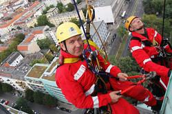Industrial Climber at Heilandchurch