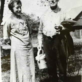 Mr. Smith and his wife in Adamston