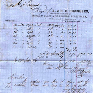 A & D.H. Chambers invoice