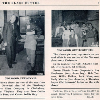"""March 1955 """"The Glass Cutter"""" WVU Library"""