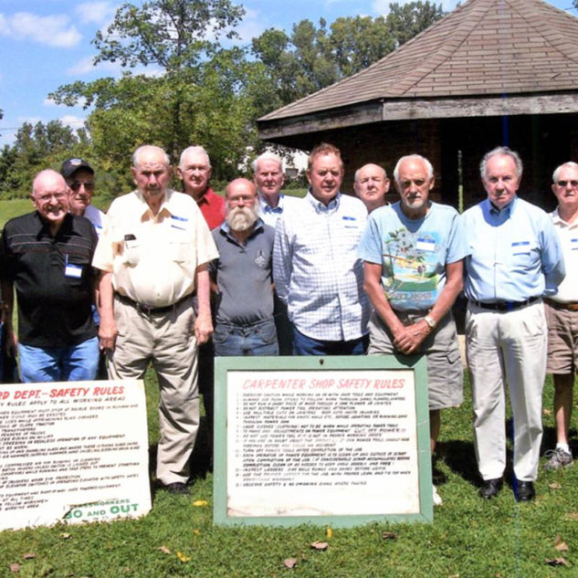 Reunion of glass workers on the old PPG site.  Aug.25, 2013.