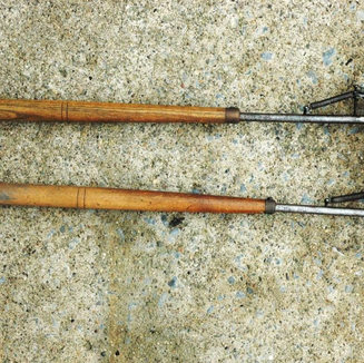 These two large ball berring splitters were donated by Jim Ferguson of Bridgeport WV in 2008.