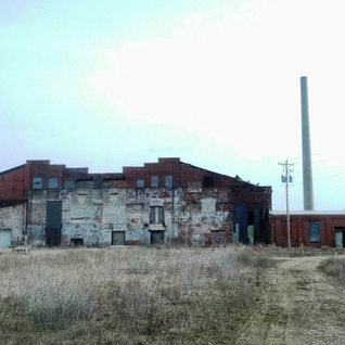 View of destruction of the plant 2013.