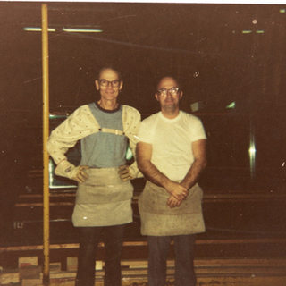 My dad and George Swoger cutters from Adamston 1975 or 1976.  George may be still living in Adamston 2017.