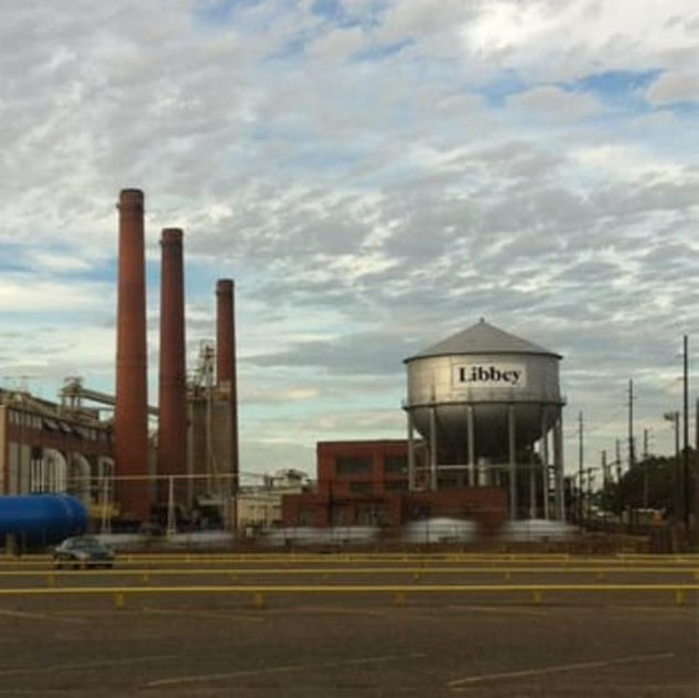 This photo shows the Libbey plant