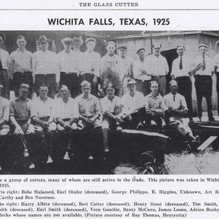 1925 group shot of cutters at Witchita Falls.