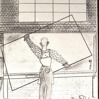 Cartoon of a Libbey Owens cutter by G. Robinson.