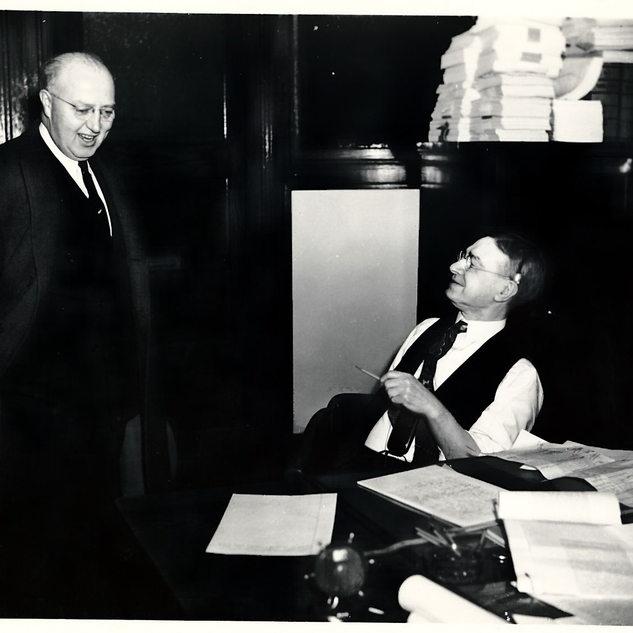 Jim McAndrew left, Fourco head lawyer.