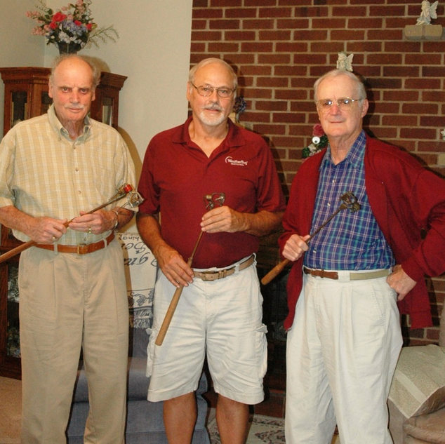 Gus Quertinmont 89, Richard Duez 68 and Page Quertinmont 87 in Bridgeport WV 2011.